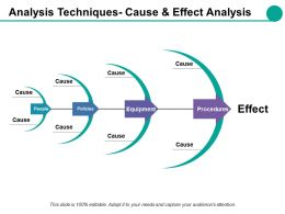 Analysis Techniques Cause And Effect Analysis Ppt Styles Backgrounds