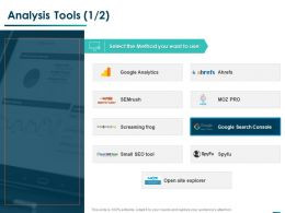 Analysis Tools Analytics Ppt Powerpoint Presentation Layouts Styles