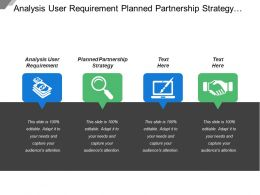 Analysis User Requirement Planned Partnership Strategy Customer Value