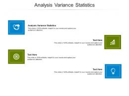 Analysis Variance Statistics Ppt Powerpoint Presentation Model Outline Cpb