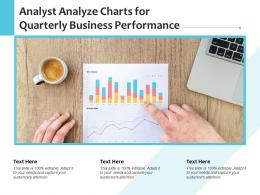 Analyst Analyze Charts For Quarterly Business Performance