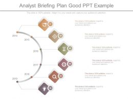 Analyst Briefing Plan Good Ppt Example