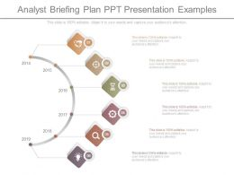 Analyst Briefing Plan Ppt Presentation Examples