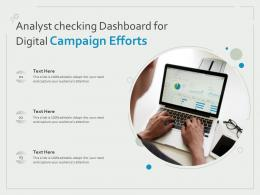 Analyst Checking Dashboard For Digital Campaign Efforts