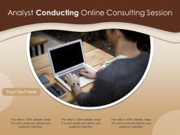 Analyst Conducting Online Consulting Session