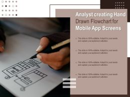 Analyst Creating Hand Drawn Flowchart For Mobile App Screens