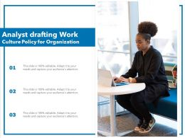 Analyst Drafting Work Culture Policy For Organization