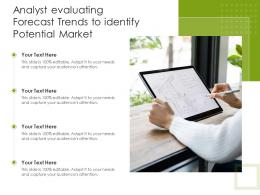 Analyst Evaluating Forecast Trends To Identify Potential Market
