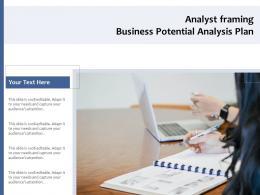 Analyst Framing Business Potential Analysis Plan
