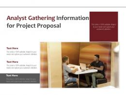 Analyst Gathering Information For Project Proposal
