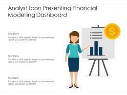 Analyst Icon Presenting Financial Modelling Dashboard