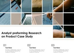 Analyst Preforming Research On Product Case Study