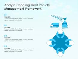 Analyst Preparing Fleet Vehicle Management Framework