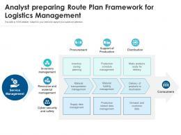 Analyst Preparing Route Plan Framework For Logistics Management