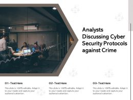 Analysts Discussing Cyber Security Protocols Against Crime