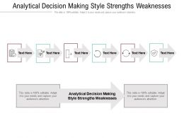 Analytical Decision Making Style Strengths Weaknesses Ppt Powerpoint Presentation Layouts Guide Cpb