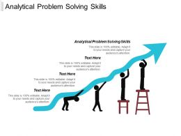 Analytical Problem Solving Skills Ppt Powerpoint Presentation Ideas Diagrams Cpb