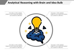 Analytical Reasoning With Brain And Idea Bulb