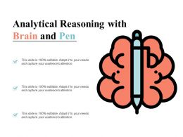 Analytical Reasoning With Brain And Pen