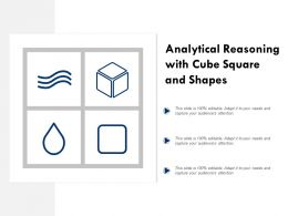 Analytical Reasoning With Cube Square And Shapes