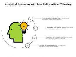 Analytical Reasoning With Idea Bulb And Man Thinking
