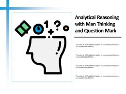 Analytical Reasoning With Man Thinking And Question Mark