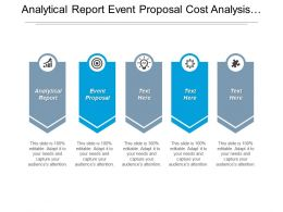Analytical Report Event Proposal Cost Analysis Human Resource Management Cpb