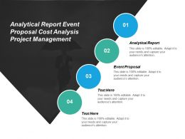 analytical_report_event_proposal_cost_analysis_project_management_cpb_Slide01