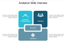 Analytical Skills Interview Ppt Powerpoint Presentation Portfolio Slide Cpb