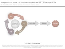 Analytical Solutions For Business Objectives Ppt Example File