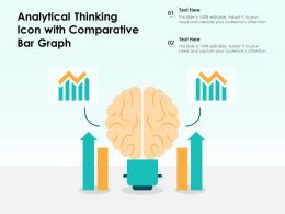 Analytical Thinking Icon With Comparative Bar Graph