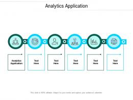 Analytics Application Ppt Powerpoint Presentation Show Model Cpb