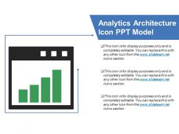 Analytics Architecture Icon Ppt Model