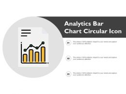 Analytics Bar Chart Circular Icon