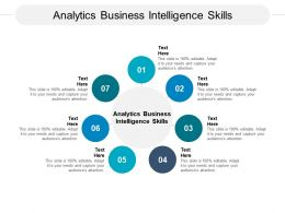 Analytics Business Intelligence Skills Ppt Powerpoint Presentation Infographic Template Cpb