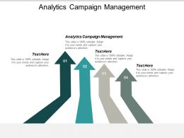 Analytics Campaign Management Ppt Powerpoint Presentation Gallery Tips Cpb