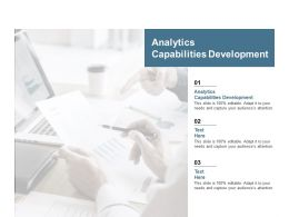 Analytics Capabilities Development Ppt Powerpoint Presentation Show Slide Download Cpb