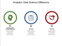 Analytics Data Science Difference Ppt Powerpoint Presentation Styles Brochure Cpb