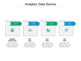 Analytics Data Service Ppt Powerpoint Presentation Summary Graphics Design Cpb
