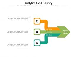 Analytics Food Delivery Ppt Powerpoint Presentation Show Background Cpb
