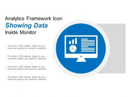 Analytics Framework Icon Showing Data Inside Monitor