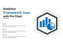 Analytics Framework Icon With Pie Chart