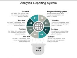 Analytics Reporting System Ppt Powerpoint Presentation Summary Master Slide Cpb