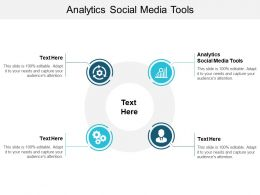 Analytics Social Media Tools Ppt Powerpoint Presentation Model Pictures Cpb