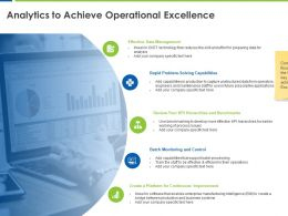 Analytics To Achieve Operational Excellence Continuous Improvement Ppt Powerpoint Presentation