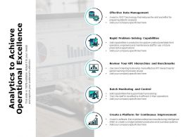 Analytics To Achieve Operational Excellence Ppt Powerpoint Presentation Outline Grid