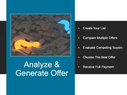Analyze And Generate Offer Example Of Ppt