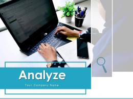Analyze Business Performance Quarterly Financial Magnifying Glass Product