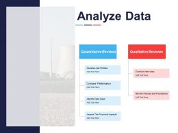 Analyze Data Compare Performance Financial Impacts Ppt Powerpoint Presentation File Graphics Download