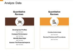 Analyze Data Compare Performance Ppt Powerpoint Presentation Outline Vector